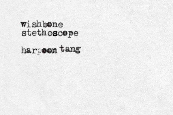 wishbone stethoc s scope harpoon tang